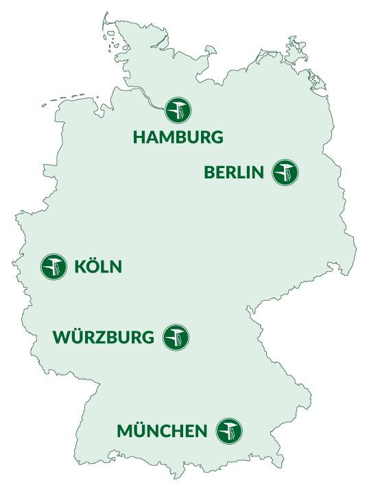 Lieferorte Deutschland
